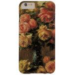 Rosas en un florero por Renoir, impresionismo del Funda De iPhone 6 Plus Barely There