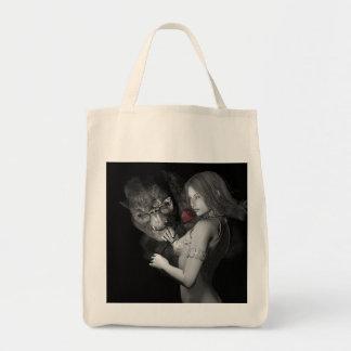Rosas enamorados bolsa tela para la compra