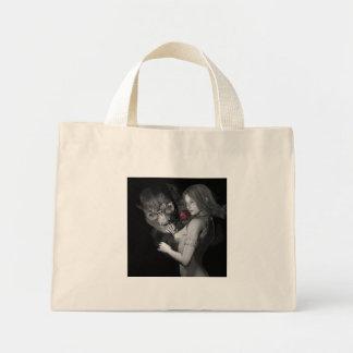 Rosas enamorados bolsa tela pequeña