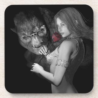 Rosas enamorados posavasos