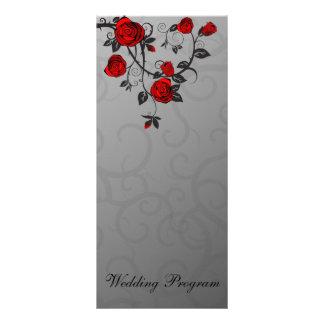 Rosas encantados que casan la tarjeta de programa tarjeta publicitaria personalizada