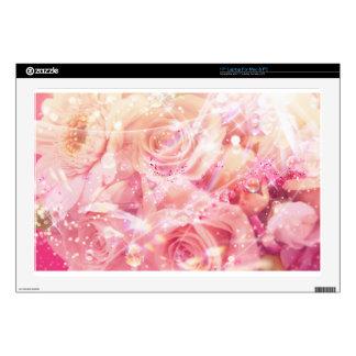 Rosas envueltos calcomanías para 43,2cm portátiles