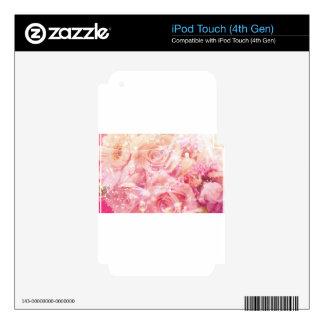 Rosas envueltos iPod touch 4G calcomanía