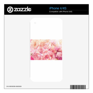 Rosas envueltos skins para iPhone 4S