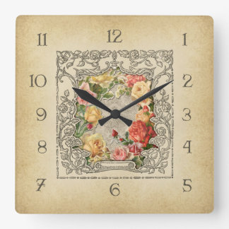 Rosas esculpidos vintage romántico relojes