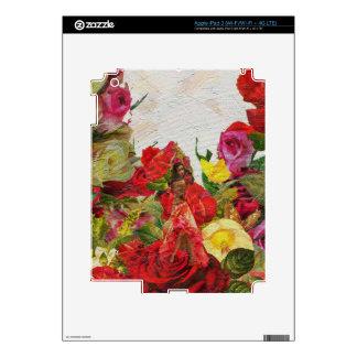 Rosas españoles del bailarín texturizados pegatina skin para iPad 3