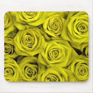 Rosas espectaculares amarillos alfombrilla de ratón