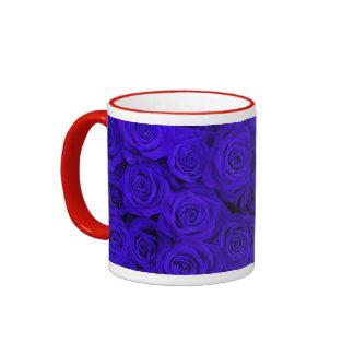 Rosas espectaculares azules tazas