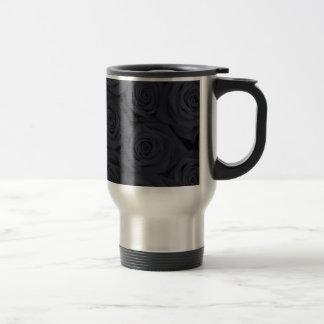 Rosas espectaculares negros taza de café