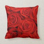 Rosas espectaculares rojos almohada