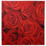 Rosas espectaculares rojos servilletas de papel