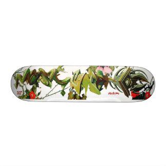 Rosas espinosos de la etiqueta que suben - arte de monopatin personalizado