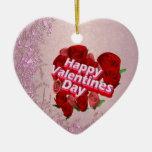 Rosas felices del día de San Valentín Adorno De Reyes