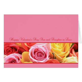 Rosas felices del el día de San Valentín del hijo Tarjeta De Felicitación
