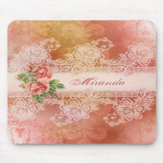 Rosas femeninos y Mousepad personalizado cordón Tapete De Ratones