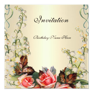 Rosas florales bonitos del Victorian de la Comunicado