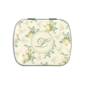 Rosas florales de encargo de la caja de la píldora jarrones de caramelos