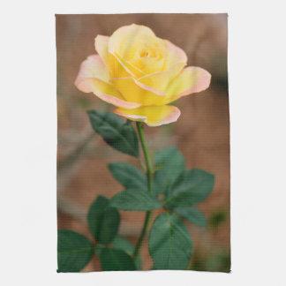 Rosas florales de las flores de la flor del rosa toallas de mano