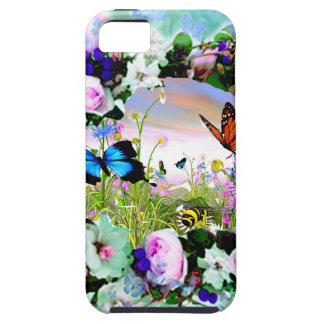 ROSAS FLORALES DE LOS WILDFLOWERS DE LAS MARIPOSAS iPhone 5 PROTECTOR