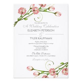 Rosas florales del jardín que casan la invitación