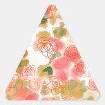 Rosas florales del monograma colcomanias trianguladas personalizadas