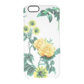 Rosas florales del rosa amarillo de las flores del funda clearly™ deflector para iPhone 6 de uncommon