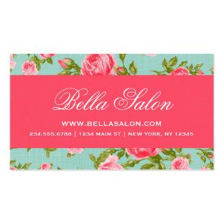 Rosas florales del vintage elegante elegante femen tarjeta de visita