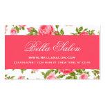 Rosas florales del vintage elegante elegante femen plantilla de tarjeta de negocio