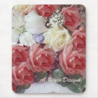 rosas florales tapete de ratón