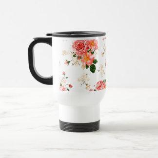 Rosas florales taza térmica