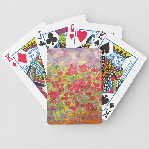 Rosas florecientes baraja de cartas