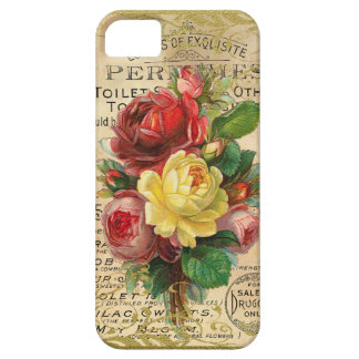 Rosas franceses antiguos iPhone 5 Case-Mate coberturas