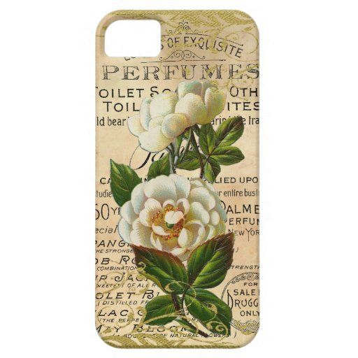 Rosas franceses antiguos iPhone 5 Case-Mate protector