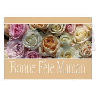 rosas franceses del pastel del día de madre tarjeta