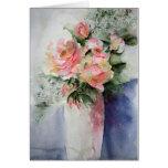 Rosas franceses - tarjeta de felicitaciones de la