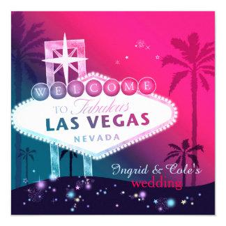 Rosas fuertes atractivas Las Vegas que casa Invitación 13,3 Cm X 13,3cm