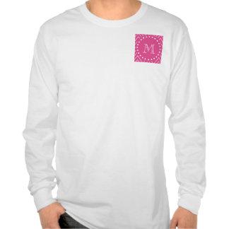 Rosas fuertes Chevron el su monograma Camisetas