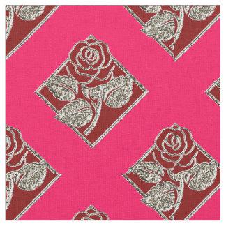 Rosas fuertes color de rosa Diamonds-08 y tela Telas