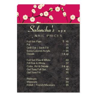 Rosas fuertes de la flor de cerezo del balneario d tarjeta personal