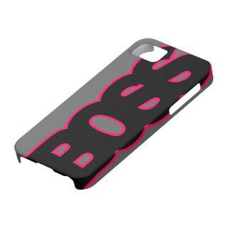 Rosas fuertes de neón BOSS iPhone 5 Case-Mate Fundas