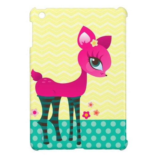 Rosas fuertes Deerie en calcetines rayados - mini  iPad Mini Protector