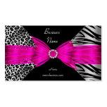 Rosas fuertes elegantes del negro del leopardo de  plantillas de tarjeta de negocio