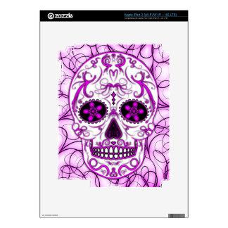 Rosas fuertes en el rosa - día del cráneo muerto iPad 3 skin