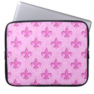 Rosas fuertes en modelo rosa claro de la flor de l funda computadora