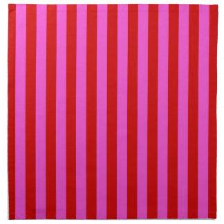 Rosas fuertes intrépidas, modelo rojo de la raya servilleta de papel