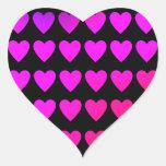 Rosas fuertes lindas y corazones púrpuras colcomanias de corazon personalizadas
