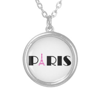 Rosas fuertes París negra Collares Personalizados