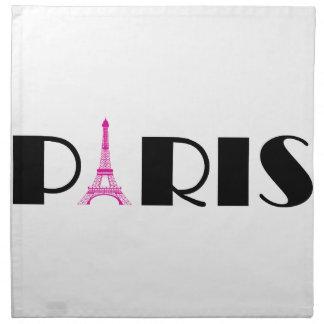 Rosas fuertes París negra Servilletas De Papel
