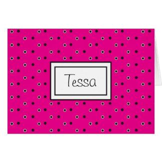 Rosas fuertes Poka Notecard personalizado Dott Tarjeta De Felicitación