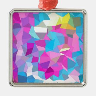 rosas fuertes polivinílicas, diseño gráfico, adorno navideño cuadrado de metal